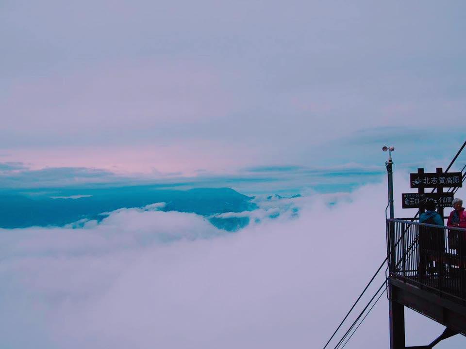 【雲海】心震える絶景!長野県山ノ内町「ソラテラス」へ行ってきました