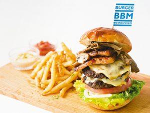 薬院◆B.B.Mバーガービッグマウンテンの「B.B.Mバーガー」