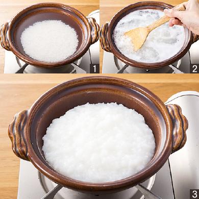 基本のお粥(全粥)の作り方