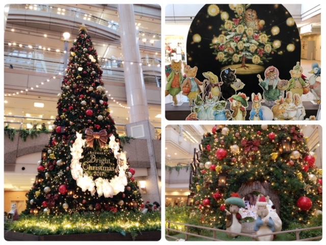 今年はピーターラビットのツリー!可愛い横浜ランドマークタワーのイルミ☆