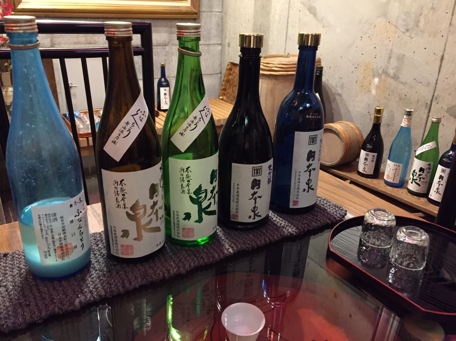 年中おいしい生酒が飲める地元岐阜の駅前酒蔵*日本泉酒造***