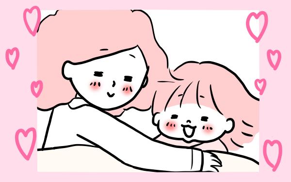 幸せすぎてツラい…! 夜寝る前の親子のラブラブ儀式【モチコの親バカ&ツッコミ育児 第13話】