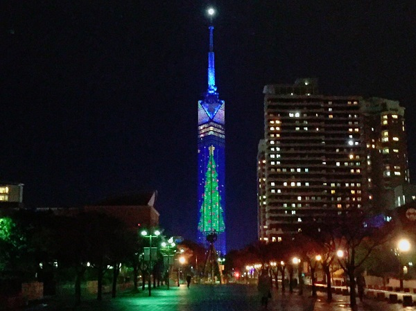 Xmasイルミ!福岡タワークリスマスツリーは12/25まで!!