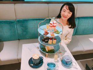 THE CAMPANELLA CAFEのブルーアフタヌーンティー♡