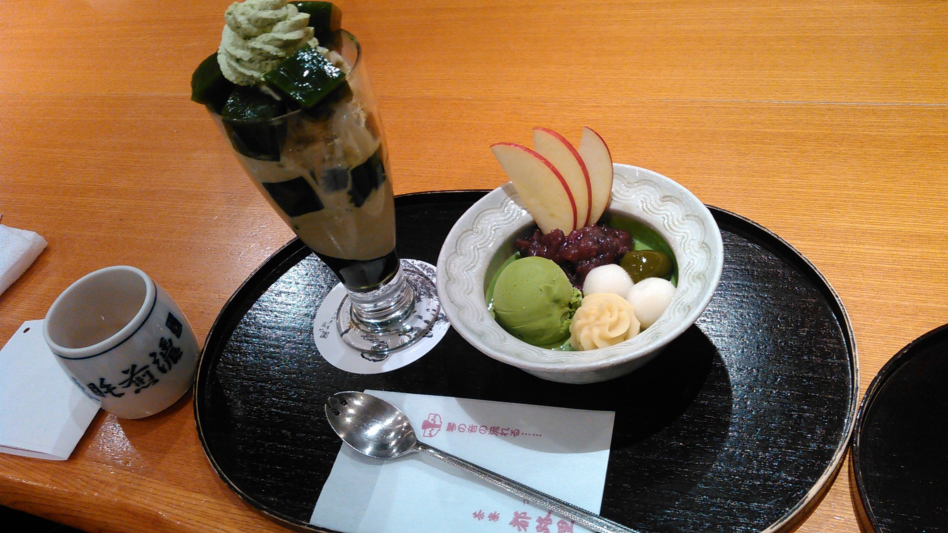 【京都】定番の抹茶パフェを駅近で⭐