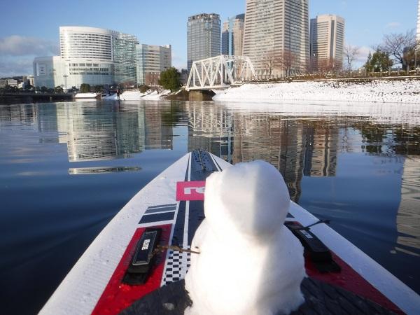 初めての雪見SUP in 横浜みなとみらい