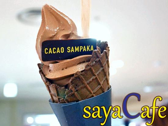連休に食べたい!カカオサンパカのチョコソフトクリーム★大丸札幌