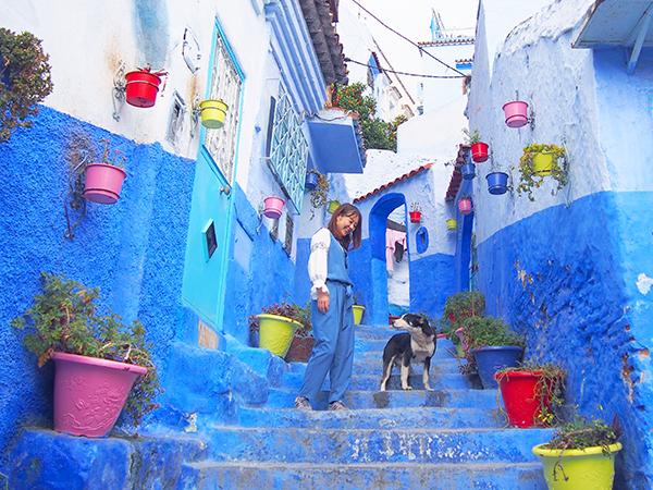 【モロッコ旅行①】おとぎの国?!絶景すぎる青い街シャウエン