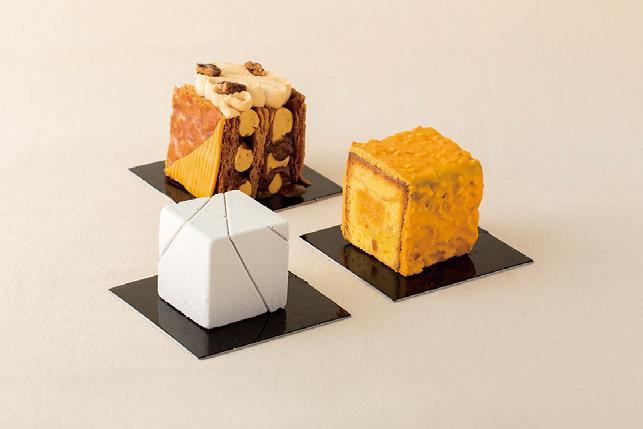 ザ・リッツ・カールトン東京の「キューブ型ケーキ」