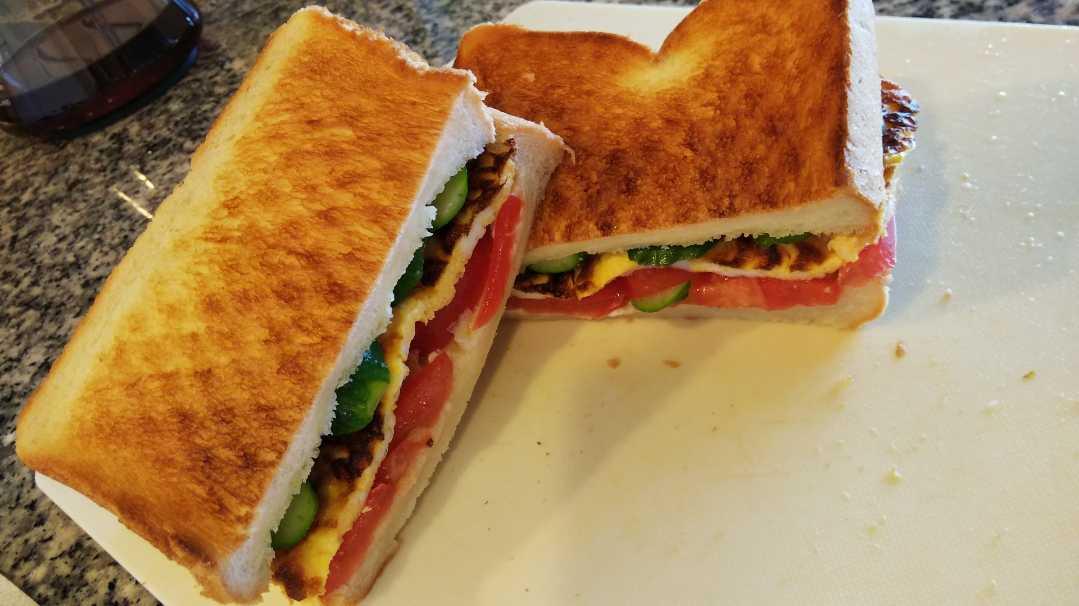 お弁当でたのしく節約♪結果☆手軽なサンドウィッチ