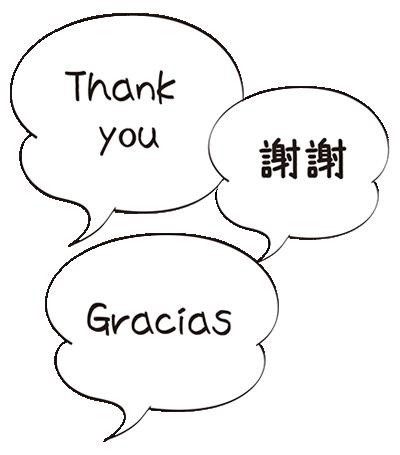 [Thank you][Gracias][謝謝]