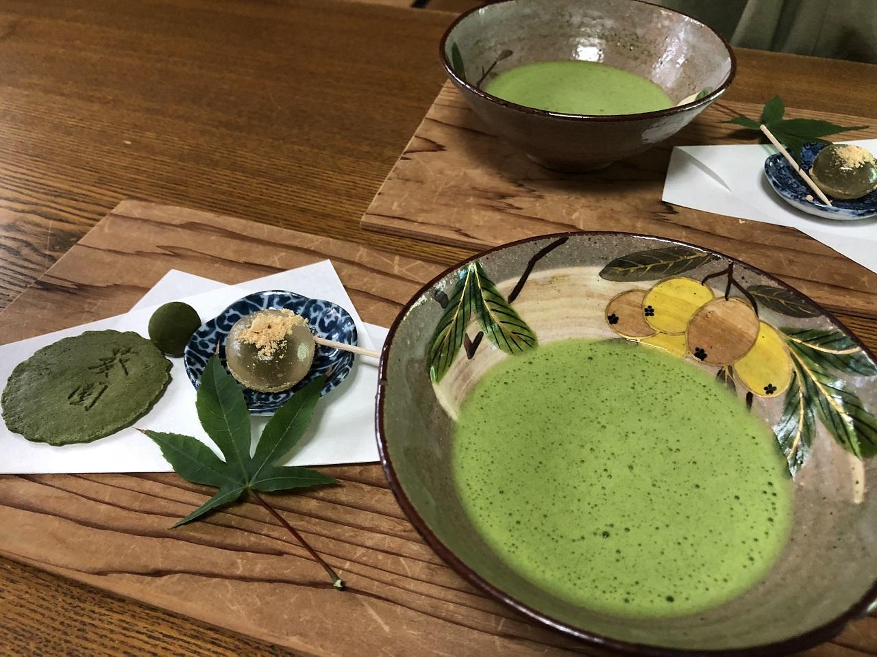 300円で極上薄茶と茶菓子を堪能~~*葵製茶 いっぷくしてきん***