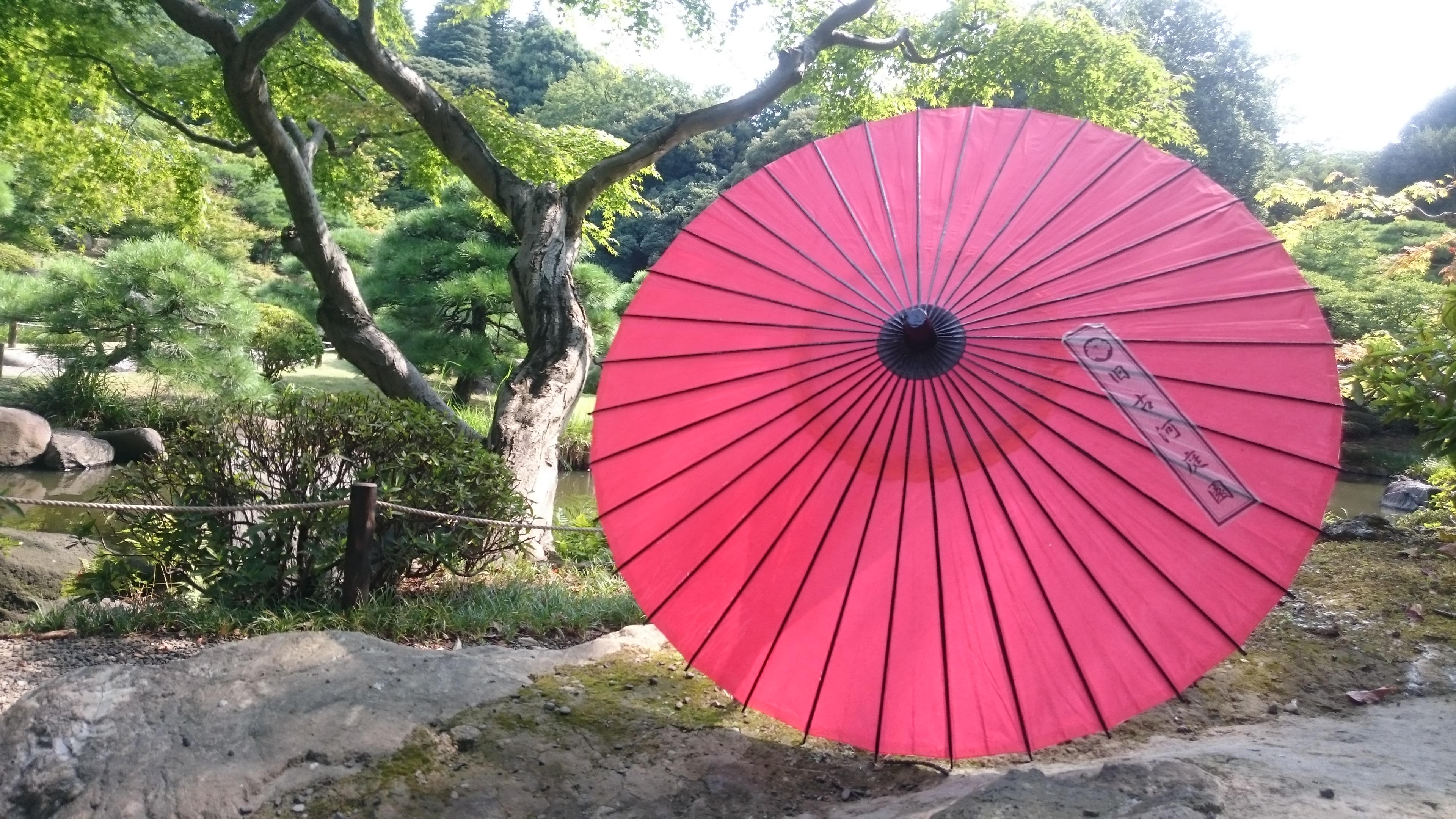 和傘を無料貸出中♪癒されスポット!旧古河庭園篇