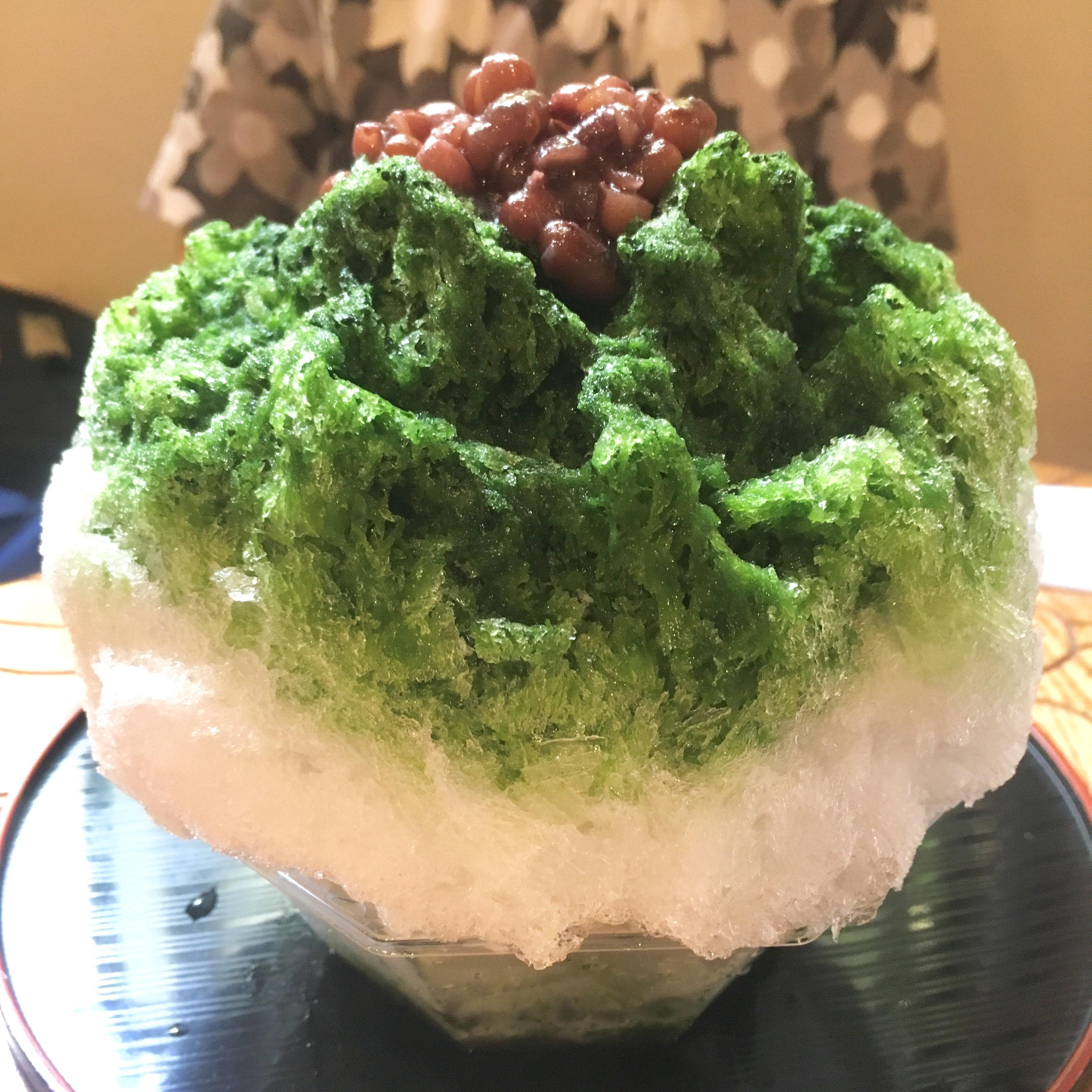 【中崎町 かき氷】 「大阪浪花家」鯛焼き屋の美味しい小豆が乗ってます