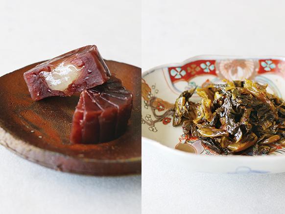 vol.16お菓子の香梅「誉の陣太鼓」&味蔵「辛子高菜」