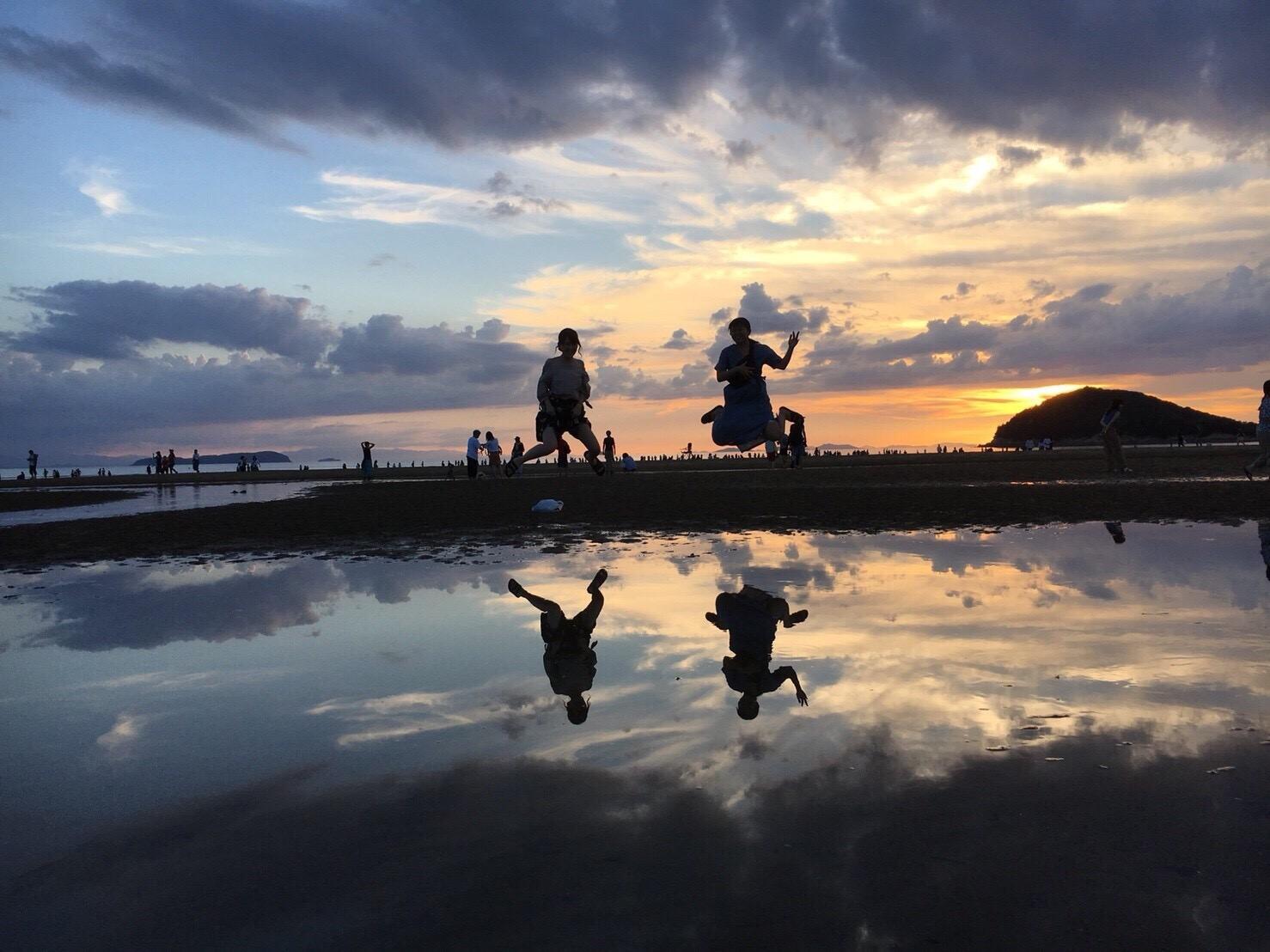 香川観光②父母ヶ浜で絶景フォトを♪