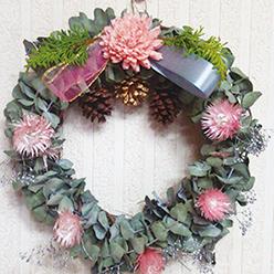 【607】ハーブの力できれいな空気 ユーカリのクリスマスリース11/28(水)