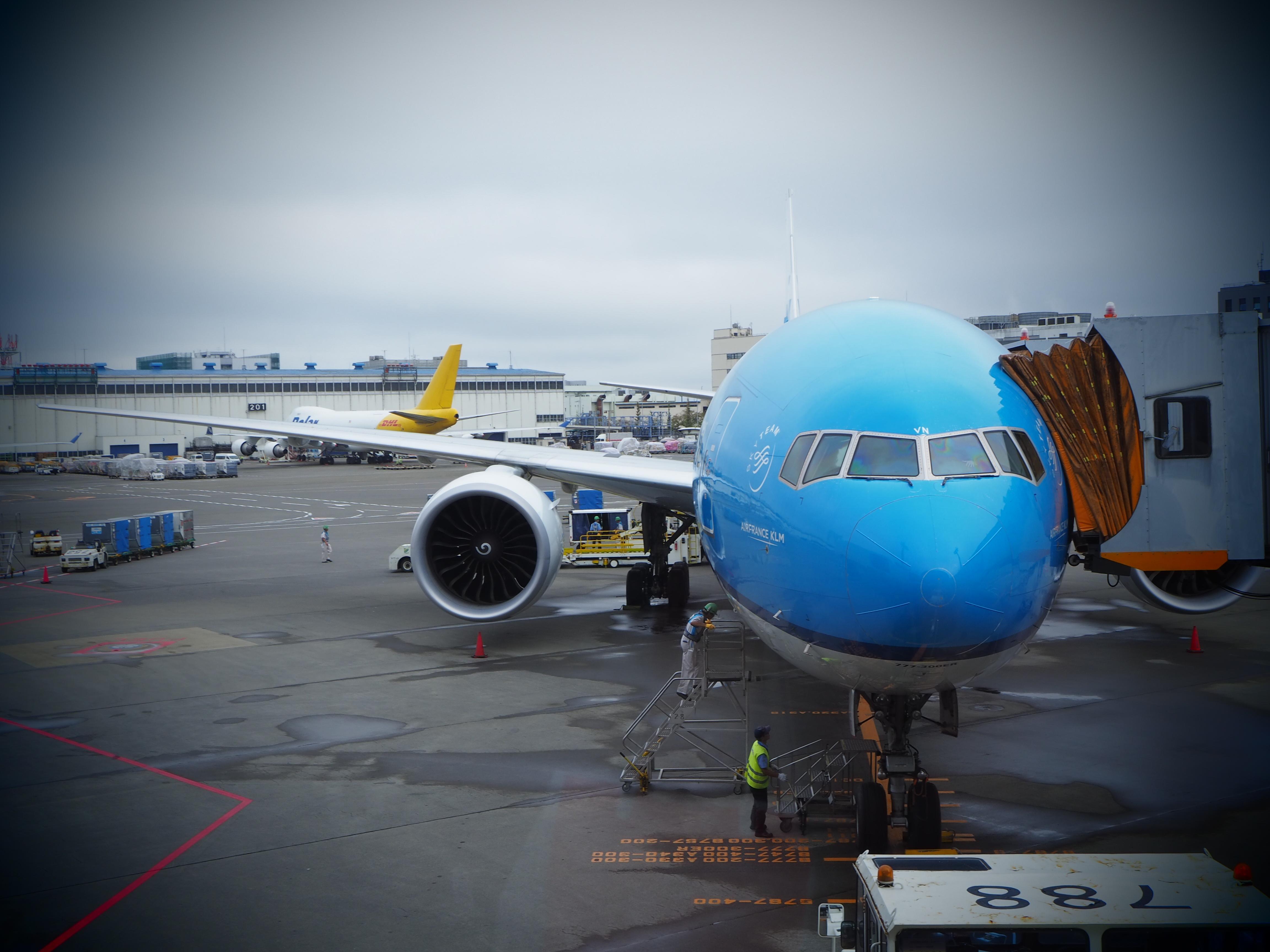 【オランダ女子旅】ブルーが眩しいKLMに乗って、いざオランダへ