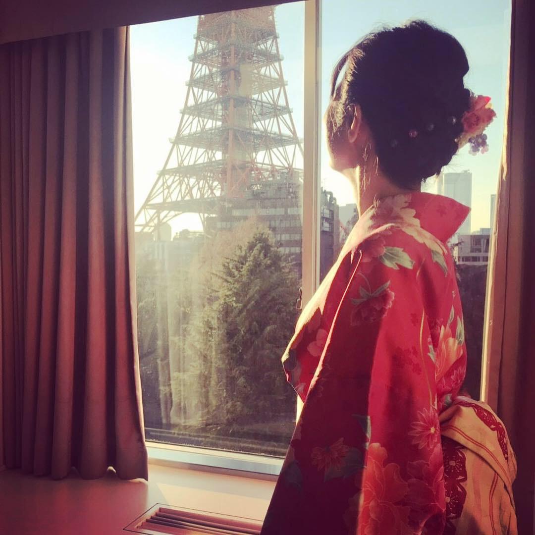 着物が映える東京プリンスホテルでお正月