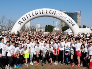 【大阪城公園】WHITE RIBBON RUN 2019 大阪women's会場ラン