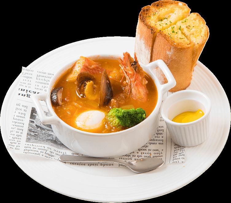 魚料理 魚介の旨味が溶け込んだ熱々スープのブイヤベース