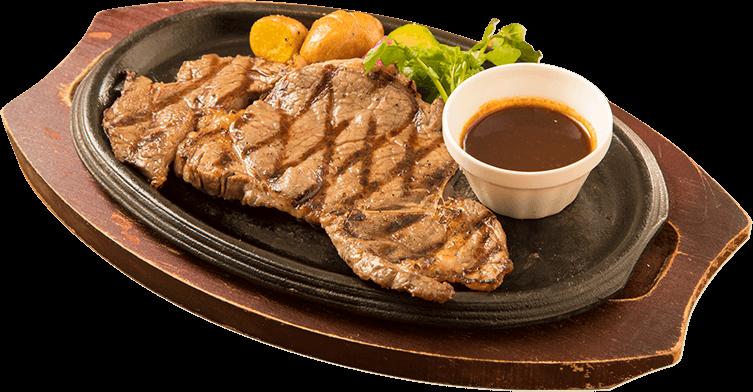 肉料理 厚みがあってジューシー!リブロースのステーキ