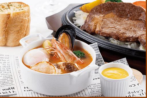 大森東急REIホテル レストラン「シャングリ・ラ」ブイヤベース&ビーフステーキコース