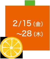 2/15(金)~28(木)