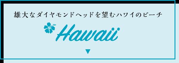ハワイ/雄大なダイヤモンドヘッドを臨むハワイのビーチ