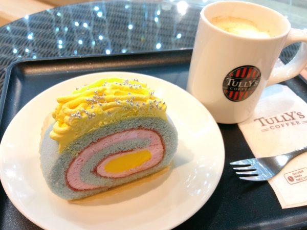 """【タリーズ】ユニコーンカラーの""""ゆめかわ""""ロールケーキが映える☆"""