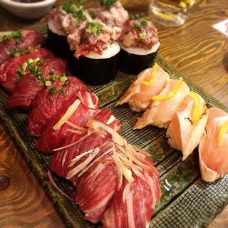裏難波で美味しい肉寿司を♡「千日前肉寿司」