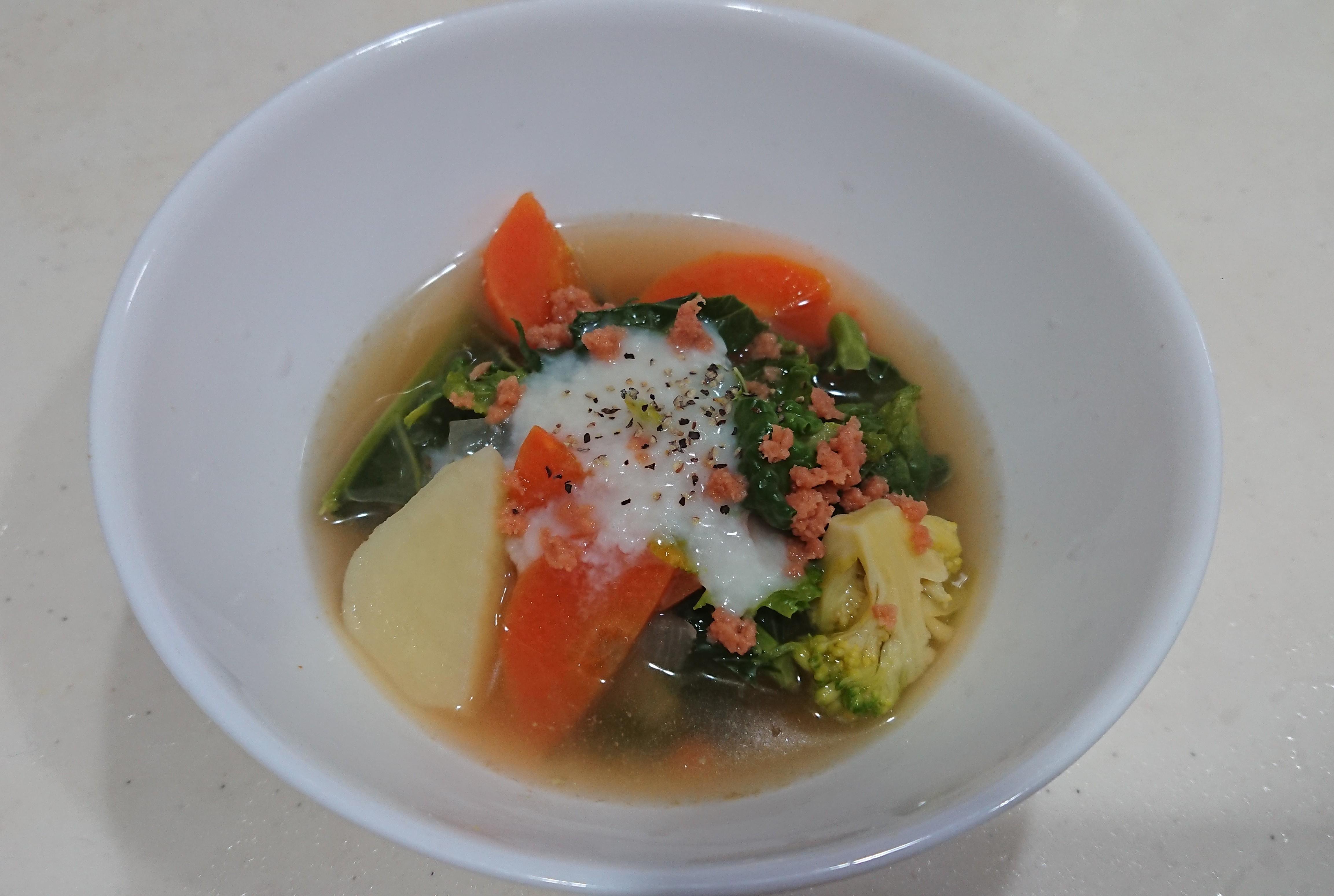 【レシピ ①】美肌効果が抜群!ビタミンたっぷりアレッタのスープ