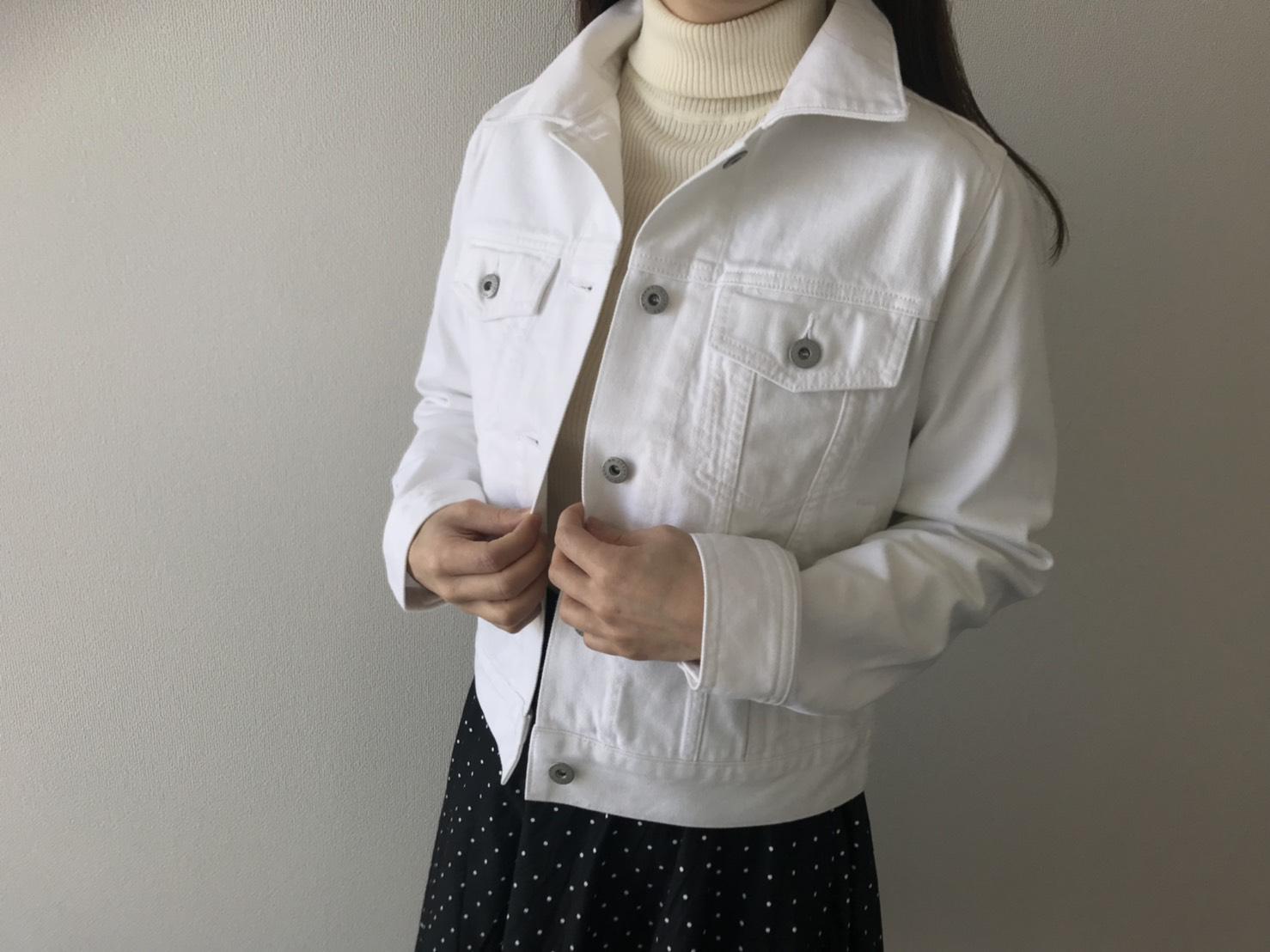 買ってよかった【GUアイテム】~白デニムジャケットに挑戦