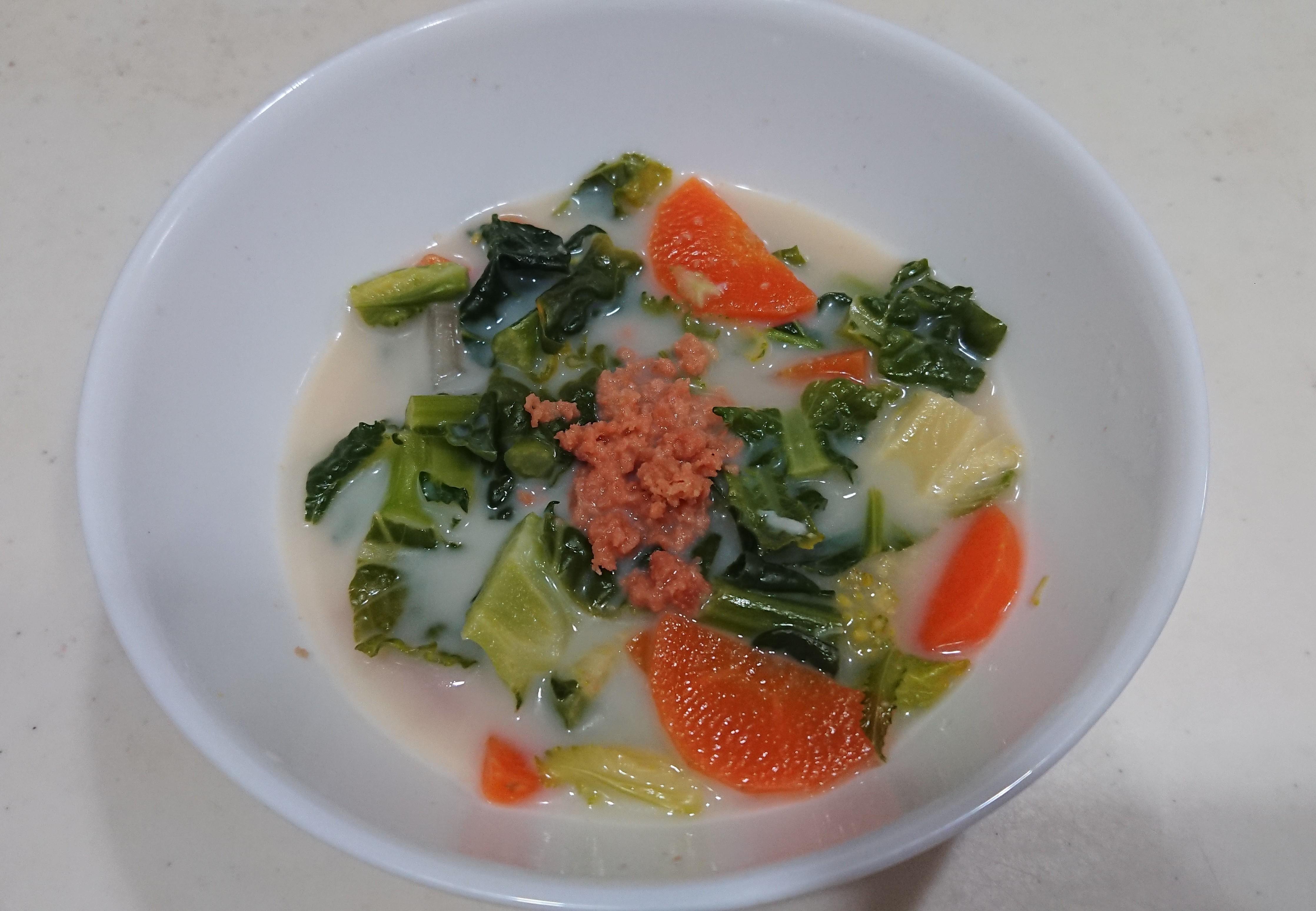 【レシピ ②】体に優しいアレッタと根菜の豆乳スープ