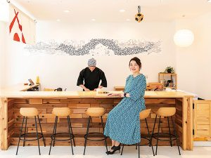 今月の非日常「Gallery+Sushi三郎寿司あまね」