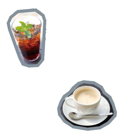 「冷珈ソーダ」(Mサイズ518円から)「カモミールミルク紅茶」(Mサイズ496円から)