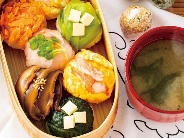 彩り手まり寿司 即席3色みそ玉