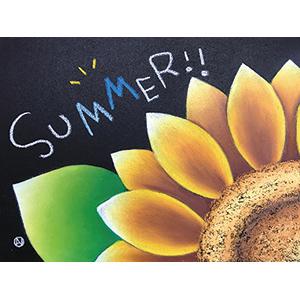 【665】空いたスペースに好きな言葉をチョークアートの「夏」7/2(火)