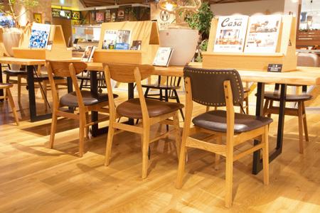店内の家具