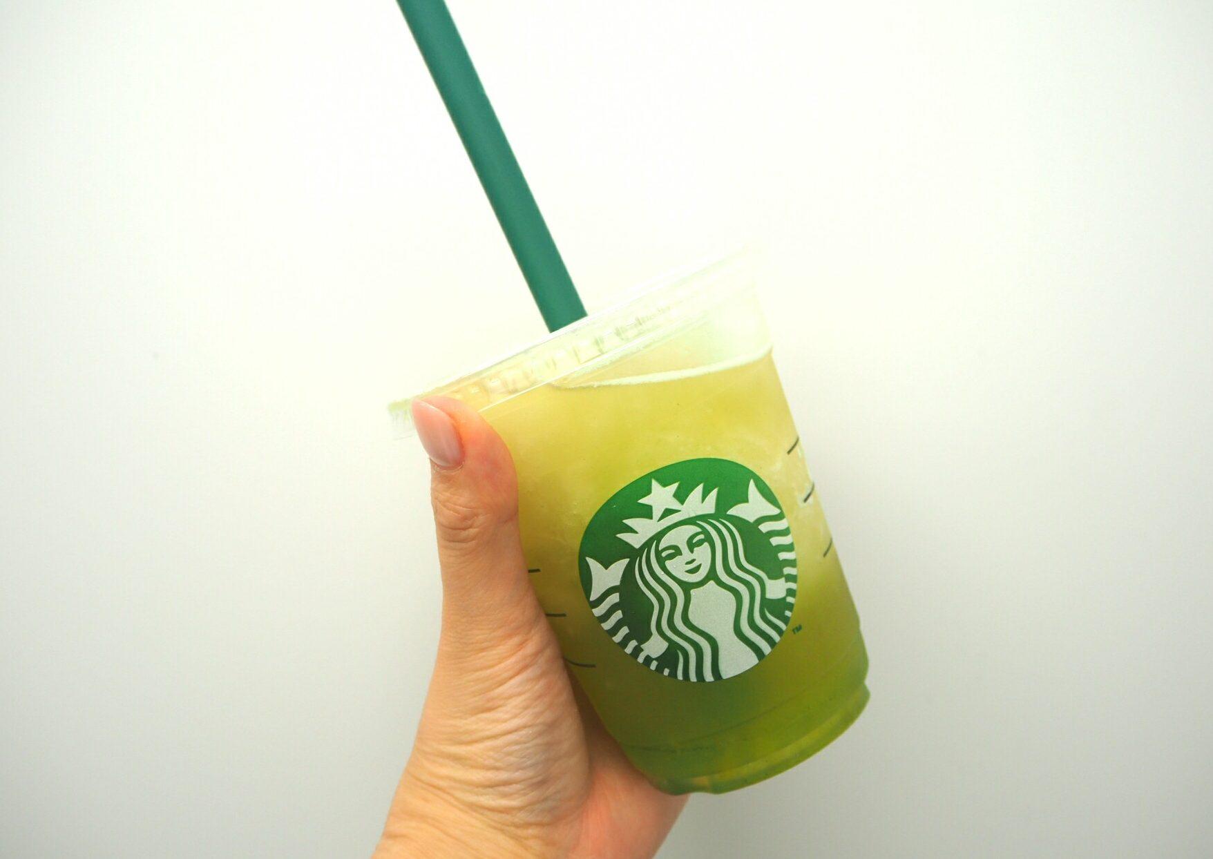 【スタバ】ティバーナフローズンティー香る煎茶×グリーンアップルお試し☆