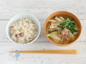 Vol.20 夏野菜の冷やしみそ汁&梅ごはん
