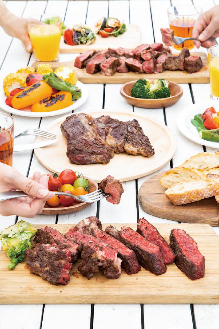 肉を焼いてsummer party