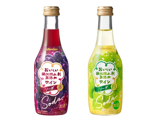 【プレゼント付き】シュワシュワを楽しもう! 「おいしい酸化防止剤無添加ワイン ソーダ」が新登場