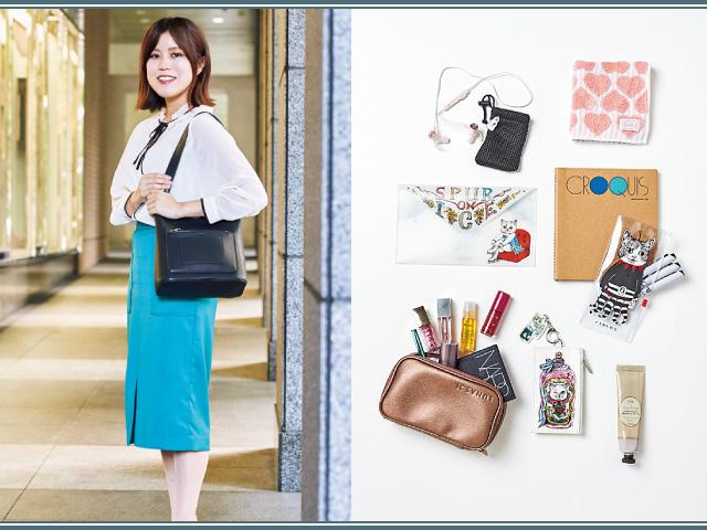 【デザイン女子のバッグ&中身】通勤も出張も大容量の小さめショルダで