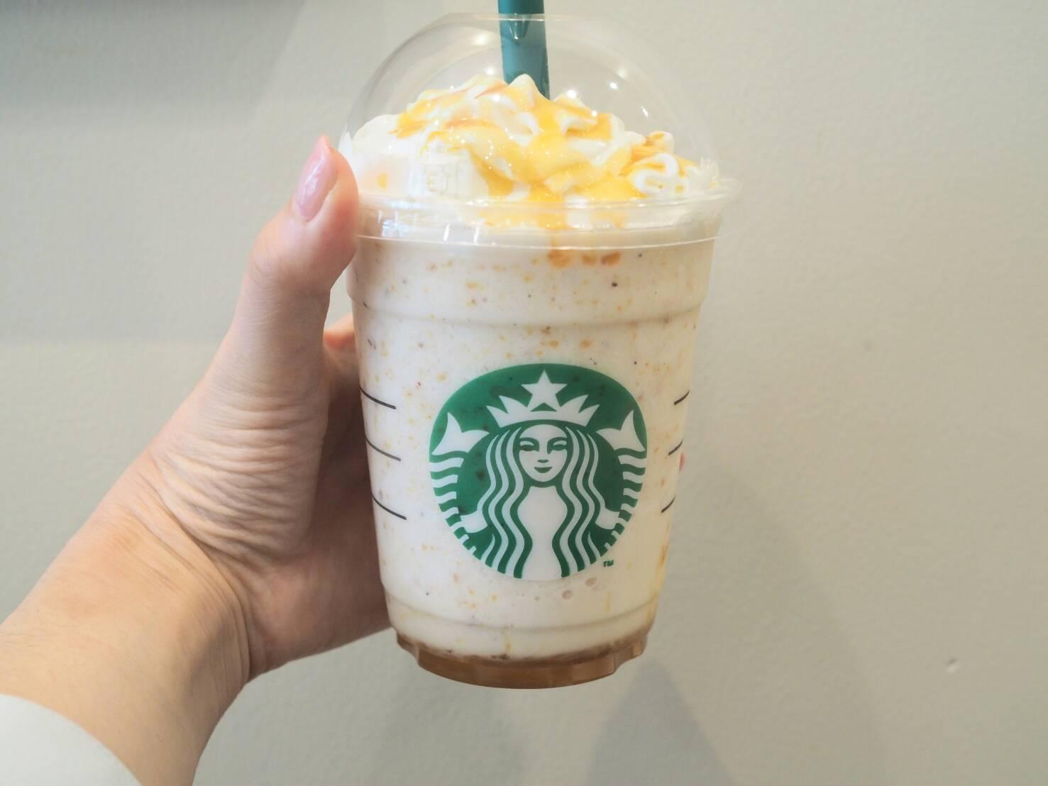 【スタバ】「スイート ポテト ゴールド フラペチーノ」は芋感バツグン!