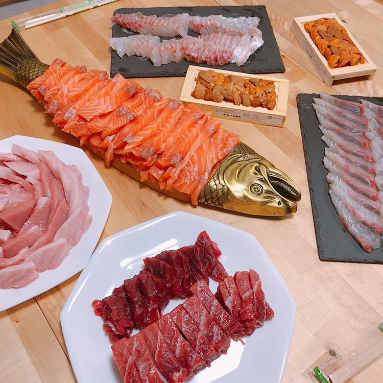 ホームパーティー海鮮丼♪