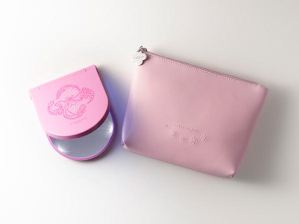 【クリスマスコフレ&限定品】KOBAKO「コスメティックミラーセット ピンク」