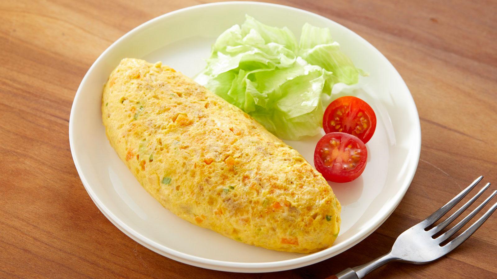 作り置き冷凍キューブで簡単・栄養バッチリな朝食を作ろう!オムレツ