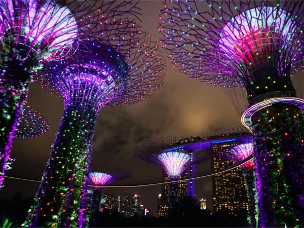 【シンガポール旅行②】マリーナ地区で無料ナイトショーめぐり
