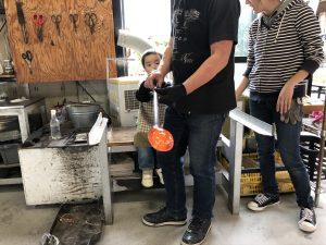 池袋から26分「川越」幼稚園児も参加できる吹きガラス制作体験